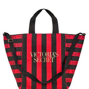 VS Red & Black Stripe Perfect Weekender Tote Bag